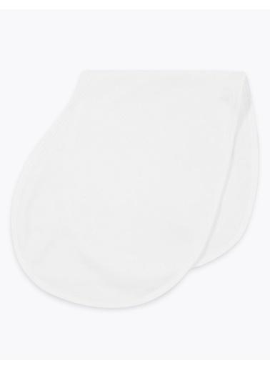 Marks & Spencer 3'lü Organik Pamuklu Omuz Bezi Beyaz